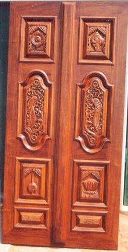 Red floral carving temple door mahalsa designer doors id: 1166514688