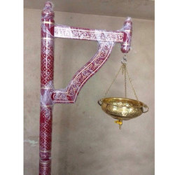 Wooden Shirodhara Stand ( Decorative) with Brass Pot