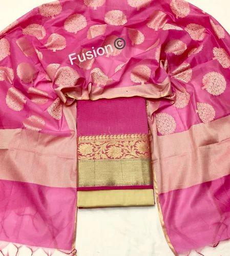 9aea4a7102 Silk Zari Unstitched Dress Materials, Rs 799 /piece, Wholesale Deal ...