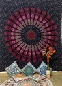 Indian Consigners Cotton Queen Bedspread Tapestry Wall Hanging, Size: 240 X 215 Cm
