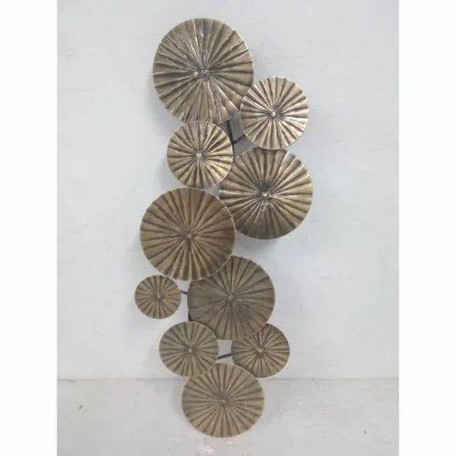 Antique Metal Round Wall Art Craft, Round Wall Decor Metal