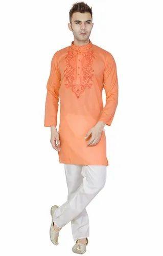 fe109bae4f6 Mens Kurta Pajama Indian Wedding Wear Ethnic Traditional Long Sleeve -M  Usable Gift