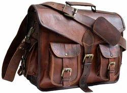 Brown Handmade Real Goat Leather Bag