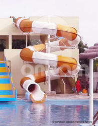 Turning Close Body Water Slide