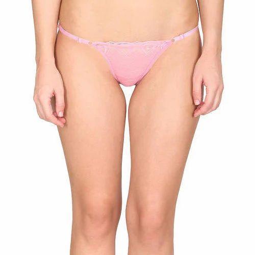 lace thong Pink
