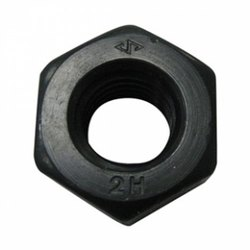 Hex High Tensile Steel Ht Nut 2h Grade, For Industrial, Size: 6mm To 43mm