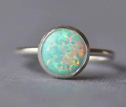 Natural Opal Stone Ring
