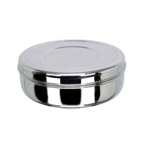 2498c8062d6 Stainless Steel Round Lunch Box at Rs 100  piece