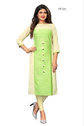 Fancy Flax Cotton Kurti