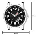 Frosino FRAC061814 Analog Date & Day Function Black Dial Casual Watch