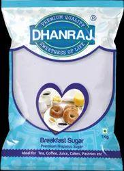 DHANRAJ White Breakfast Sugar, Crystal, Packaging Size: 1 Kg