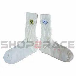 Beltenick White Socks Nomex SFI Rated, Size: Free