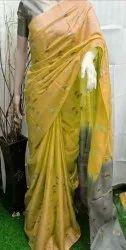 Katan Silk Embroidered Sarees