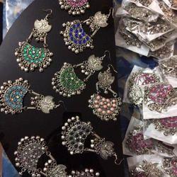Silver Afghan Earring