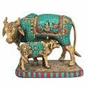 Decorative Cow Calf Statue