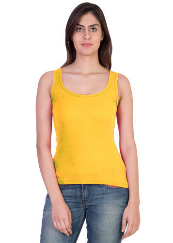 96c982e8f56628 17Hills Black and Pink Tank Top Vest Top Camisole Sando Spaghetti Top for Women  Yellow Color