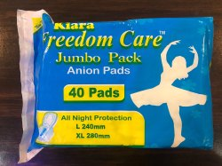 Jumbo Pack Kiara Freedom Anion Sanitary Napkins