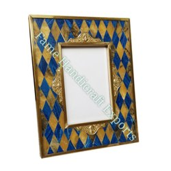 Blue Golden F876 Resin With Brass Photo Frame