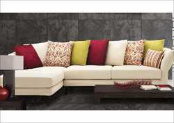 7 Seater Wooden L Shape Sofa Set, Dimensions: 1930 x 940 x 865 x 1905 x 940 x 865 mm