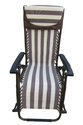 Folding Gravity Reclining Rocking Chair-Brown-Coffee