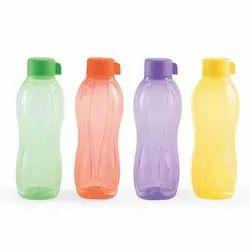 Plastic Screw Cap Tupperware Reusable Aquasafe Bottles, For Water Storage, Capacity: 1 Liters
