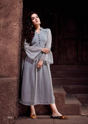 Roohi By Vivils Long Gown Type Kurti