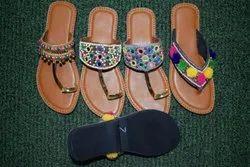 Ladies Handwork Kolapuri Chappal