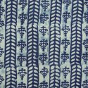Indigo Blue Dabu Hand Block Print Cotton Floral Fabric