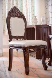 Hand Carved Antique Wooden Chair, Size: 22 x 21 inch