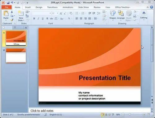 Power Point Presentations Services in Wz- 340, New Delhi, Green