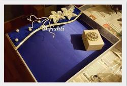 Wedding Blue Saree Packing Tray