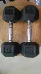 Fixed Weight Rubber Dumbbell, Weight: 5 kg to 60 kg