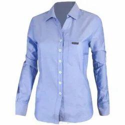 Full Sleeve Ladies Corporate Shirt, Size: M-xxl