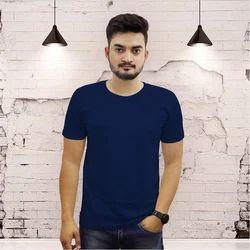 Mens Cotton Round Neck T-Shirt, Size: S-XL