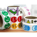 Multicolor Vinyl Printed Sticker, For Labeling, Packaging Type: Roll
