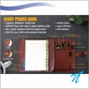 Diary Power Bank 5000 MAH With Pendrive 16 GB
