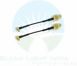 RF Cable Assemblies MMCX Right Angle to RP SMA Female in RG 174