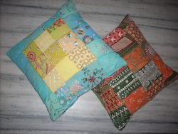 Multicolor Patch Work Cushion Cover