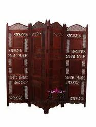 As Peer Choice Sheesham Wood handcrafted wooden room divider, 4, Size: 72*20