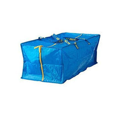 Blue Plain HDPE Tarpaulin Bag