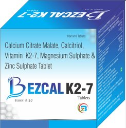 Calcium Citrate Malate , Magnisium , Zinc, Vitamin K27, Calcitriol  Tablets