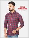 Red Gulf Warrior Mens Check Shirts