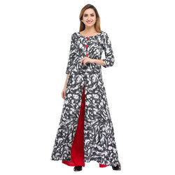 Cottinfab Printed Kurta and Palazzo Set