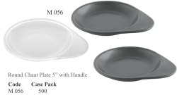 Round Chaat Plate With Handle
