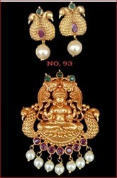 Sv Jewellers Gold Artificial Pendant Set