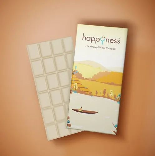 Bar Happyness Artisanal Couverture White Chocolate, 100 G