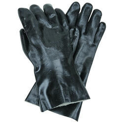 Free Size Black Safety Leather Gloves