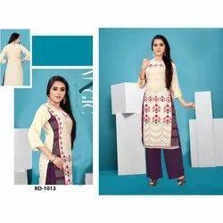 Designer Printed Rayon Crepe Kurti