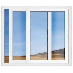 WENTO White UPVC Glass Sliding Window, Glass Thickness: 5MM