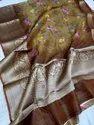 Silk Linen Banarasi Digital Printed Sarees